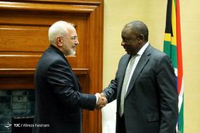 دیدار ظریف با رئیس جمهور آفریقای جنوبی