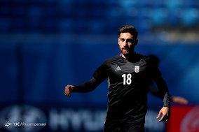 کنفرانس خبری و آخرین تمرین تیم ملی فوتبال ایران قبل بازی با مراکش