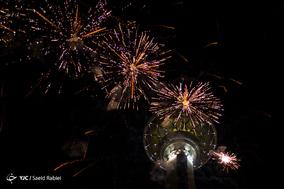 نور افشانی در برج میلاد به مناسبت عید فطر