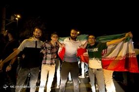 تماشا و شادی مردم همدان پس از پیروزی تیم ملی فوتبال مقابل مراکش