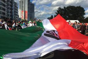 حضور هواداران ایرانی در شهر کازان پیش از دیدار با اسپانیا