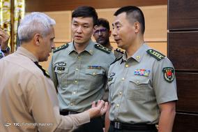 دیدار هیئت نظامی چین با فرمانده نیروی زمینی ارتش