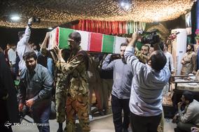 مراسم وداع با پیکر دو شهید تازه تفحص شده