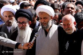 تشییع پیکر مطهر آیت الله محمد رضا حدائق در شیراز