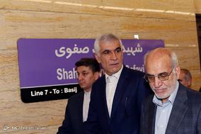 بازگشایی بخش میانی خط 7 مترو تهران ایستگاه مهدیه