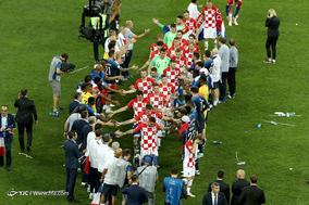 مراسم اهدای جام قهرمانی 2018 روسیه