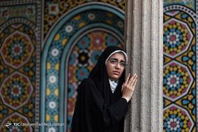 پیکر شهید مدافع حرم «سیدرضا حسینی» در قم