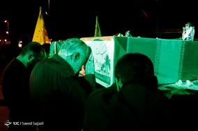 مراسم وداع با پیکر ۱۳۵ شهید دوران دفاع مقدس