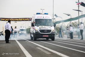 مراسم بدرقه کاروان بهداشت و درمان اربعین حسینی