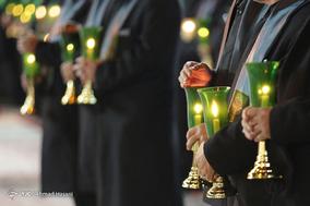 خطبه خوانی شب شهادت امام رضا(ع) در حرم مطهر رضوی