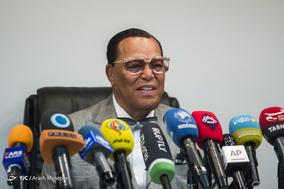 نشست خبری رهبر مسلمانان آمریکا در پرس تیوی