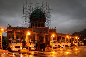 آیین اهدای ماشینآلات شهرداری تهران به مناطق زلزلهزده کرمانشاه
