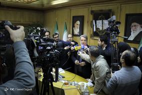 حضور عبدالرضا رحمانی فضلی، وزیر کشور در جمع خبرنگاران در حاشیه یکصد و دوازدهمین جلسه شورای اجتماعی کشور
