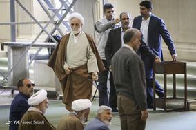 حجت الاسلام غلامحسین محسنی اژه ای، سخنگوی قوه قضاییه در نماز جمعه تهران - ۲۱ دی ۱۳۹۷