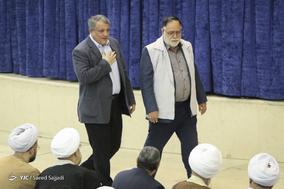 محسن هاشمی رفسنجانی، رئیس شورای شهر تهران در نماز جمعه تهران - ۲۱ دی ۱۳۹۷