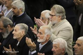 نادر طالب زاده، فعال رسانه ای و دبیر جشنواره فیلم عمار در نماز جمعه تهران - ۲۱ دی ۱۳۹۷
