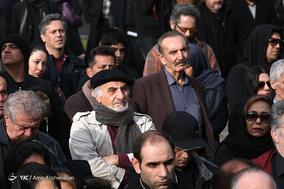 تشییع پیکر مرحوم حسین محباهری