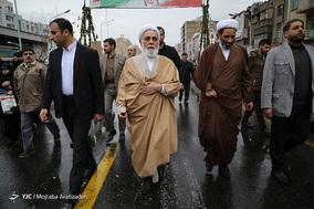 حضور حجت الاسلام علی اکبر ناطق نوری در جشن ۲۲ بهمن چهل سالگی