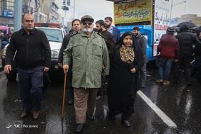 حضور سرلشکر فیروزآبادی رئیس سابق ستادکل نیروهای مسلح در جشن ۲۲ بهمن چهل سالگی