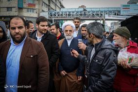 حضور حجت الاسلام غلامحسین محسنی اژه ای سخنگوی قوه قضائیه در جشن ۲۲ بهمن چهل سالگی
