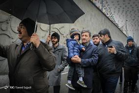 حضور مهندس پرویز فتاح رئیس کمیته امداد امام خمینی(ره) در جشن ۲۲ بهمن چهل سالگی