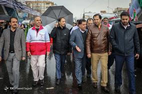حضور علی اصغر پیوندی رئیس جمعیت هلال احمر در جشن ۲۲ بهمن چهل سالگی