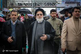حضور حجت الاسلام شهیدی محلاتی رئیس بنیاد شهید و ایثارگران در جشن ۲۲ بهمن چهل سالگی