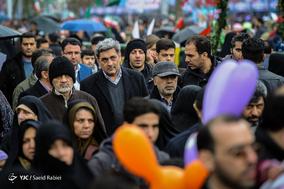 حضور مهندس پیروز حناچی شهردار تهران در جشن ۲۲ بهمن چهل سالگی