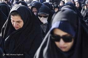 تشییع پیکر شهید گمنام دفاع مقدس در اهواز