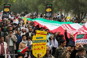 جشن ۲۲ بهمن چهل سالگی در شهر رودان