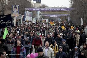 جشن ۲۲ بهمن چهل سالگی در شهر تبریز