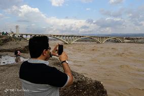 طغیان رودخانه آبنما در رودان