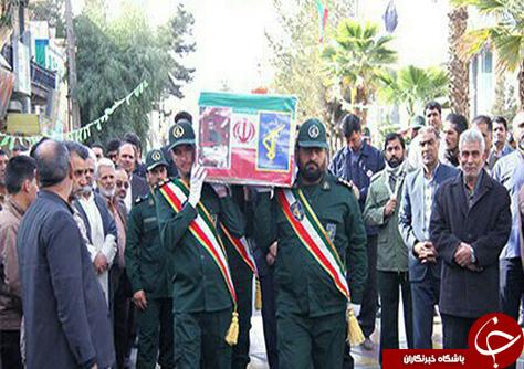تشییع پیکر شهید حمله تروریستی نیکشهر در زاهدان + تصاویر