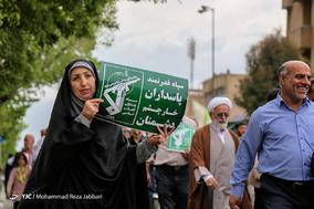 راهپیمایی مردم قم در حمایت از سپاه پاسداران