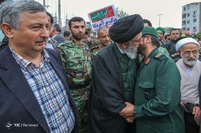 راهپیمایی مردم گرگان در حمایت از سپاه پاسداران