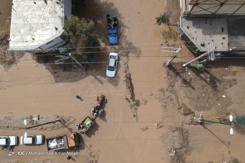 تصاویر هوایی شهر سیل زده پلدختر