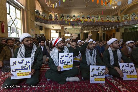 تجمع حوزویان همدان در حمایت از سپاه پاسداران
