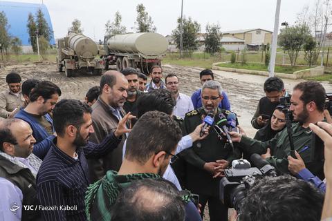 بازدید سردار غیب پرور رئیس سازمان بسیج مسضعفین کشور از مناطق سیل زده گلستان