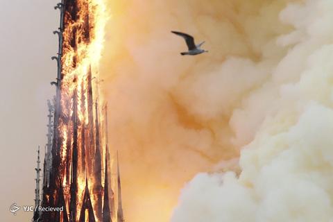 آتش سوزی کلیساى تاریخی نوتردام