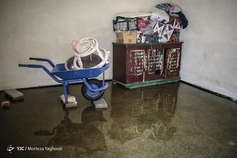 سیلاب در روستای ابوشلوگ تالاب شادگان استان خوزستان