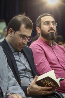 سیدحمیدرضا برقعی، شاعر آیینی در مراسم رونمایی از پنجمین کتاب شعر خود با عنوان یحیی