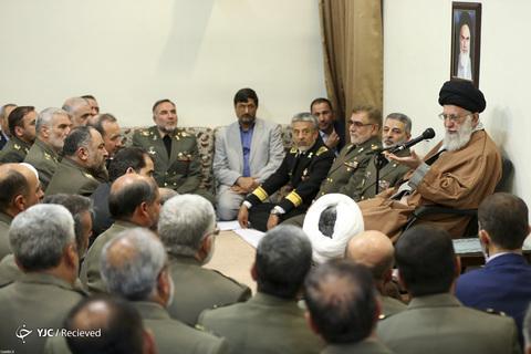 دیدار فرماندهان و کارکنان ارتش با رهبر معظم انقلاب