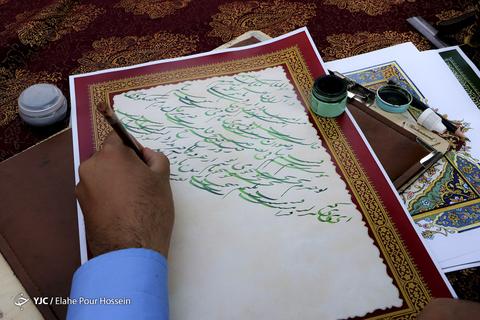 بداهه نویسی خوشنویسان در بزرگداشت سعدی