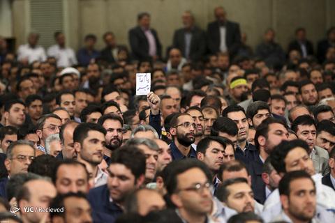 دیدار جمعی از کارگران با رهبر انقلاب