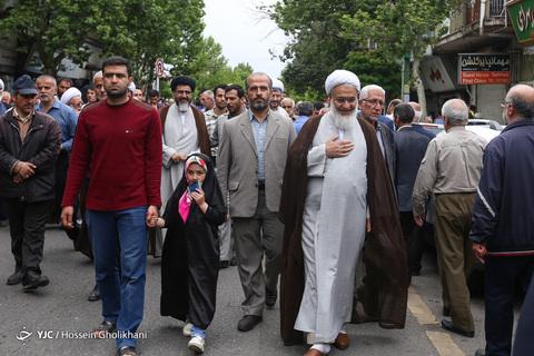 راهپیمایی حمایتی از تصمیم شورای عالی امنیت - قزوین