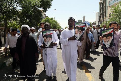 راهپیمایی سراسری حمایت از بیانیه شورای عالی امنیت ملی -قم