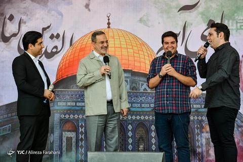 حضور سیدمحمد بطحایی وزیر آموزش و پرورش در راهپیمایی روز جهانی قدس ۹۸ تهران