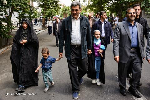 حضور پیروز حناچی شهردار تهران در راهپیمایی روز جهانی قدس ۹۸ تهران