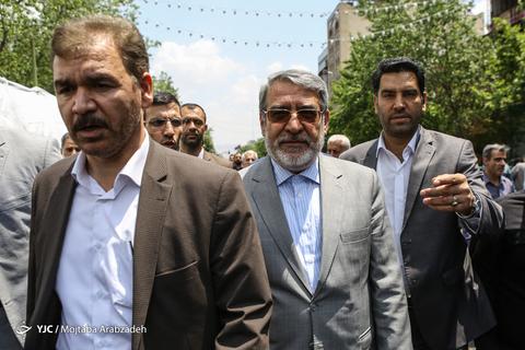 حضور عبدالرضا رحمانیفضلی وزیر کشور در راهپیمایی روز جهانی قدس ۹۸ تهران
