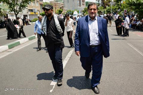 حضور اسماعیل نجار رئیس سازمان مدیریت بحران در راهپیمایی روز جهانی قدس ۹۸ تهران